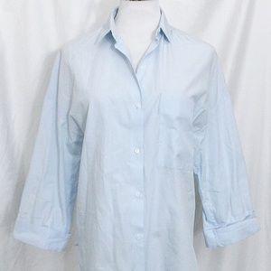 Zara Trafaluc Button Down Shirt 3/4 Sleeves